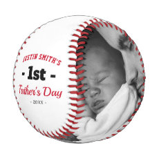 First Happy Father's Day Photo Baseball