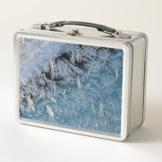 First Hard Frost Nature Abtract Photographic Art Metal Lunch Box