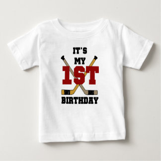 First Hockey Birthday Baby T-Shirt