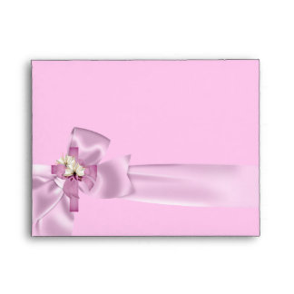 First Holy Communion 1st Cross Girls White Pink Envelope
