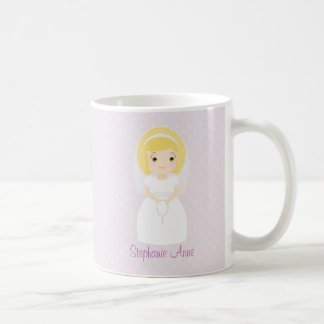 First Holy Communion Blonde Girl Coffee Mug