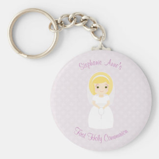 First Holy Communion Blonde Girl Keychain