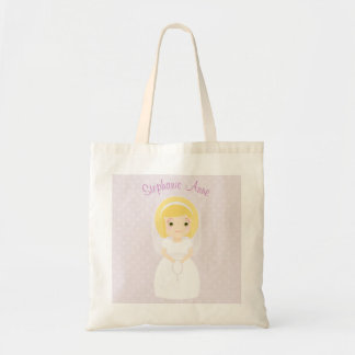 First Holy Communion Blonde Girl Tote Bag
