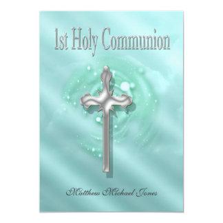 First holy communion boys girls card