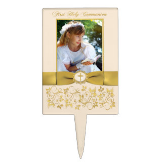 First Holy Communion Cake Pick with Photo