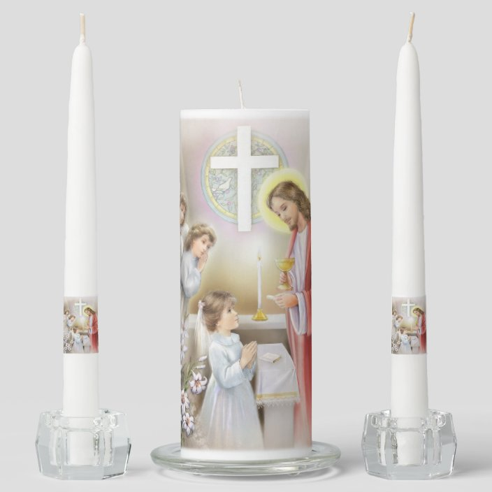 Communion Candle-Confirmation candle young girl
