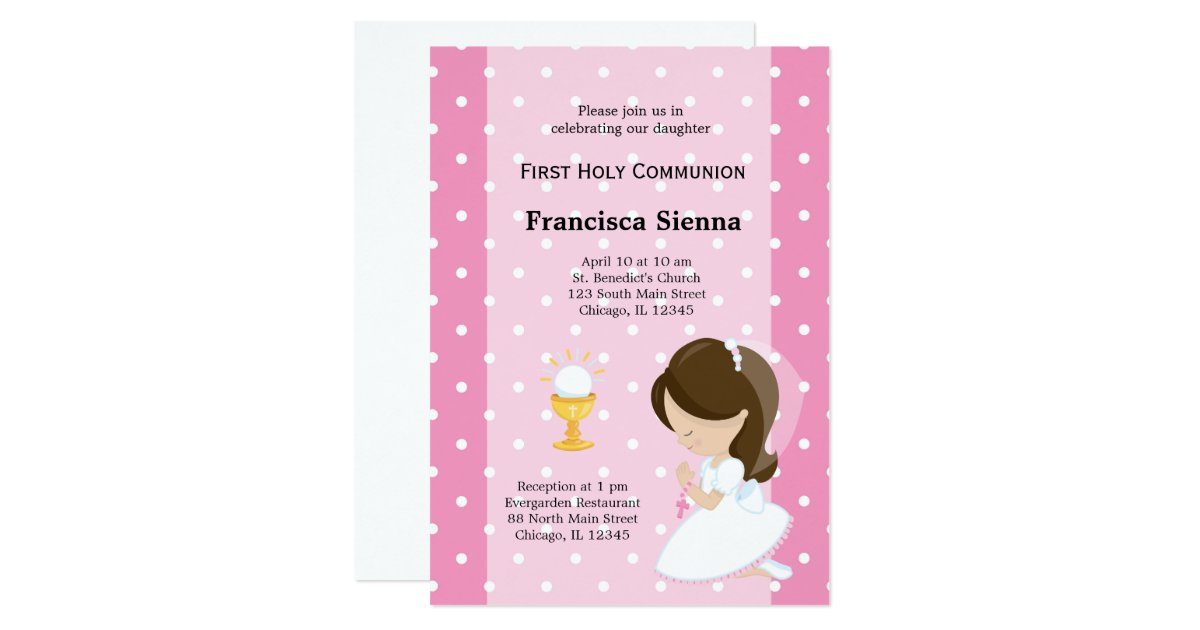 First Communion Invitations Announcements – Invitation Cards for First Holy Communion