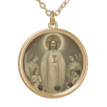 First Holy Communion Catholic Jesus Angels Gold Plated Necklace