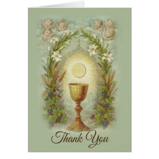First Holy Communion Catholic Thank You Card