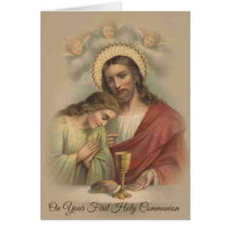 First Holy Communion Catholic Traditional Card