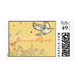 First Holy Communion Chalice Dove Invitation Stamp