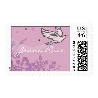 First Holy Communion Chalice Dove Invitation Stamp stamp