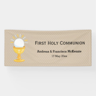 First Holy Communion * choose background color Banner