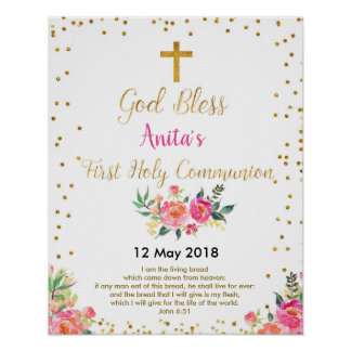 First Holy Communion Christening Party Sign