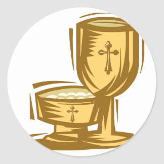 First Holy Communion Classic Round Sticker