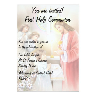 First Holy Communion,confirmation  girl invitation