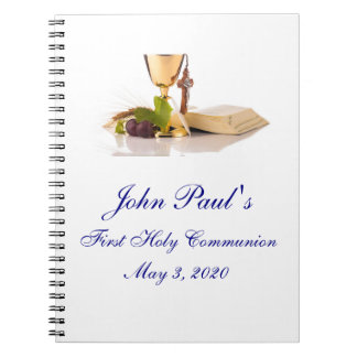 First Holy Communion Custom Guest Book Notebook