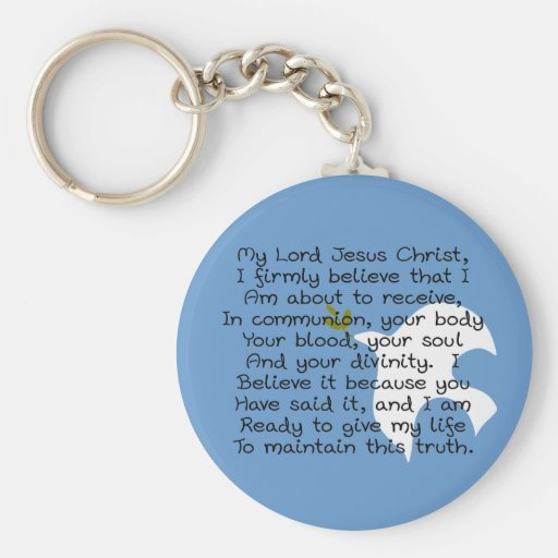 First Holy Communion Day Gifts Basic Round Button Keychain