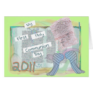 First Holy Communion Day Gifts Kids Card