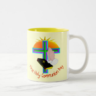 First Holy Communion Day Gifts Two-Tone Coffee Mug