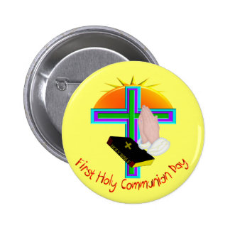 First Holy Communion Day Gifts Pinback Button
