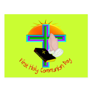 First Holy Communion Day Gifts Postcard