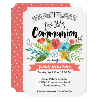 First Holy Communion Flowers | Invitations
