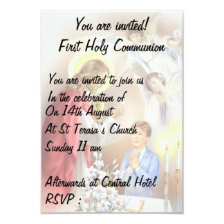 First Holy Communion for  boy invitation