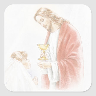 First holy communion for girl sticker