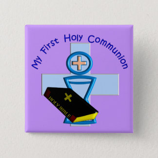 First Holy Communion Gifts for Kids Button