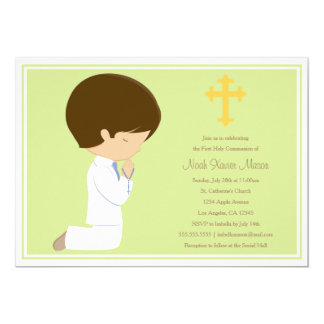 First Holy Communion - Green | Invitation