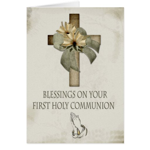 First Holy Communion Greeting Card