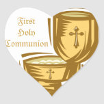 First Holy Communion Heart Sticker