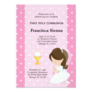 First Holy Communion 5x7 Paper Invitation Card