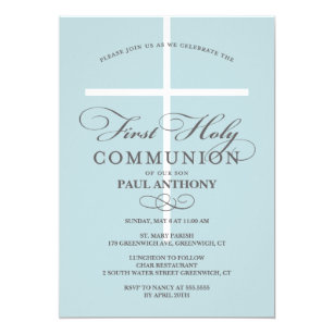 First Communion Invitations Announcements Zazzle