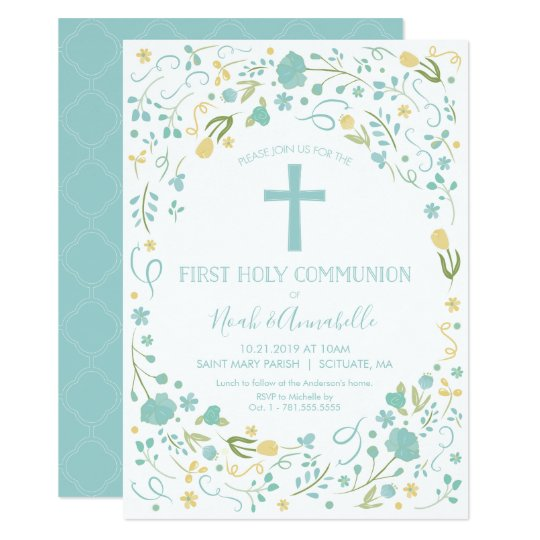 First Holy Communion Invitation Boy And Or Girl Zazzle Com