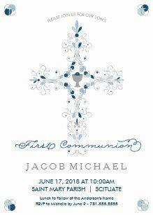 boy first communion 1st holy communion invitations zazzle