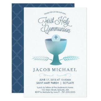First Holy Communion Invitation Boy's Small Invite