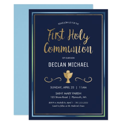 First Holy Communion Invitation _ Elegant Simple