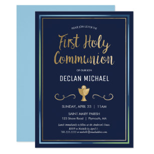 First Holy Communion Invitation - Elegant, Simple