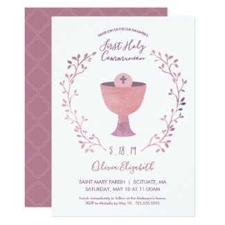 First Holy Communion Invitation - Girl Invite
