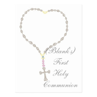 First Holy Communion Invitation Postcard