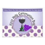 "First Holy Communion Invitations 5"" X 7"" Invitation Card"