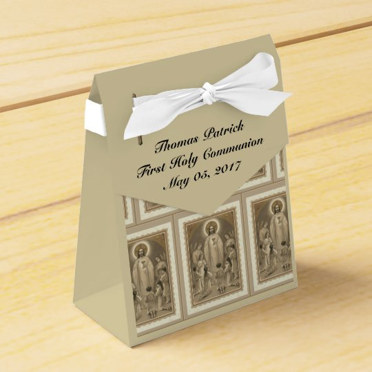 First Holy Communion Jesus Eucharist Traditional Favor Box Zazzlecom