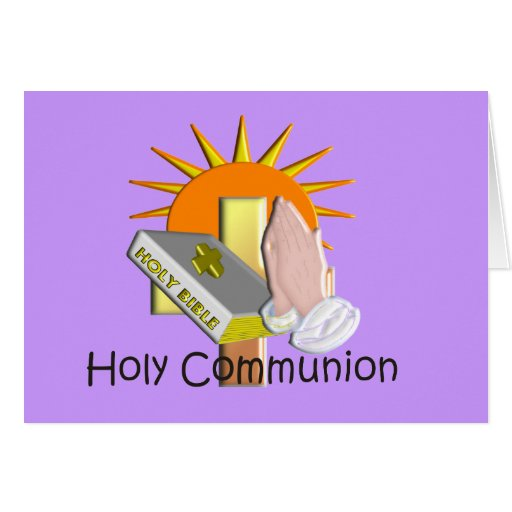 First Holy Communion Kids Gifts Greeting Card