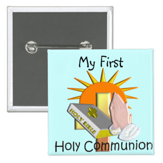 First Holy Communion Kids Gifts Pinback Button