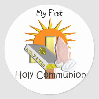 First Holy Communion Kids Gifts Round Stickers
