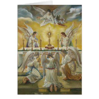 First Holy Communion lHost Chalice Angels Card