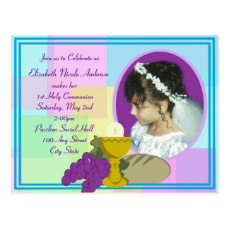 First Holy Communion/ Photo Postcard