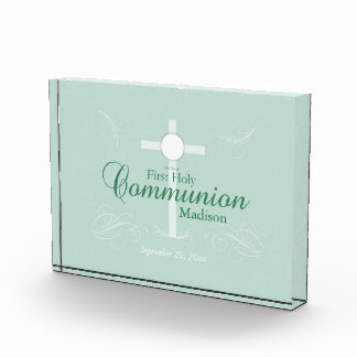 First Holy Communion, Script in Soft Green Award